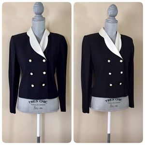 Vintage black and white blazer/jacket