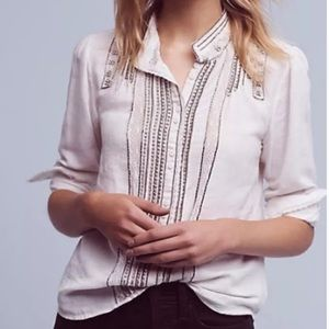 Anthropologie- Floreat beaded Button down $148!