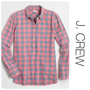 NWT J. Crew Boyfit Checkered Shirt S