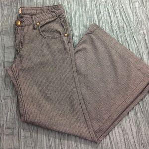 Free People flare pants dark grey