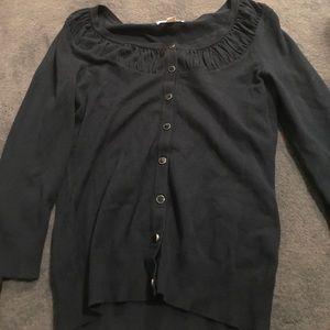 Dark turquoise 3/4 sleeve cardigan from NY&C!