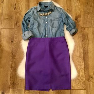 J. Crew No.2 Pencil Skirt•Purple•6