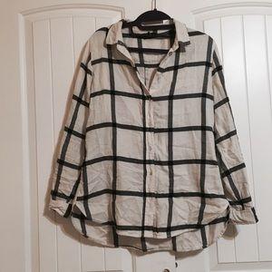 H&M Light flannel button-down shirt