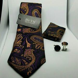 Other - Dark Paisley Tie set