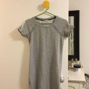 Athleta grey jersey stretch dress
