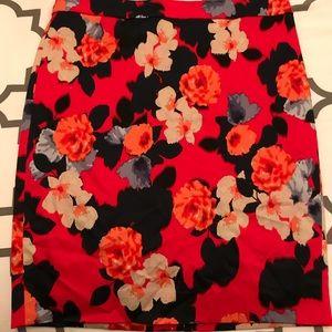 J. Crew floral pencil skirt size 8