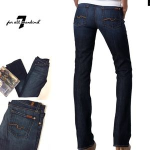 {7 for all mankind} dark wash bootcut jeans
