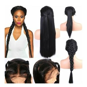 Black Straight Beauty LaceFront Wig 24-26 inches!!