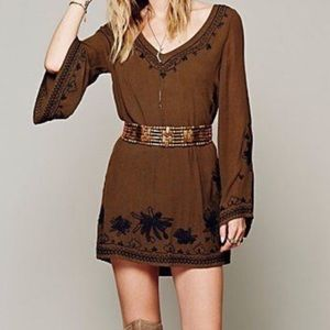 Free People skyfall embroidered peasant dress