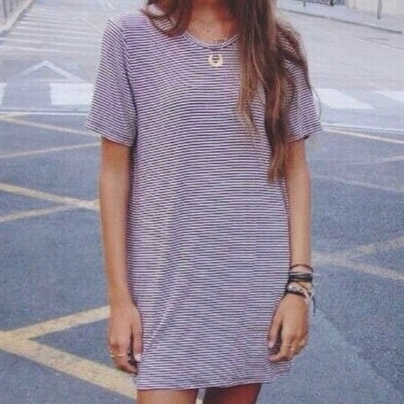 ef8ce603d8c3 Brandy Melville Dresses   Skirts - Brandy Melville maroon striped t shirt  dress