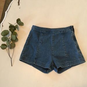 H&M high waisted soft jean shorts