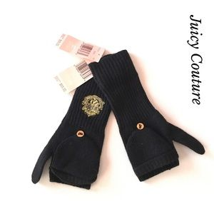 🎀JUICY COUTURE WOMEN KNITTED MITTENS IN BLACK🎀