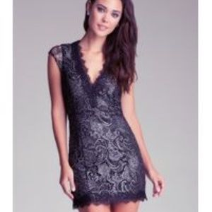 NWT! {Bebe} 'Oliver' Lace Cap Sleeve Dress [8]