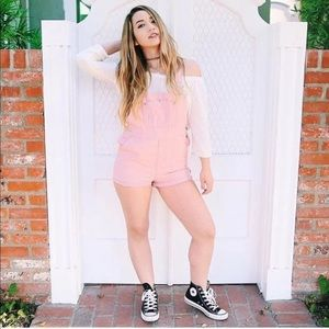 Pink brandy overalls one day sale
