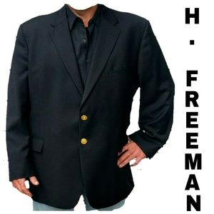 Hickey Freeman Navy blue jacket with gold buttons
