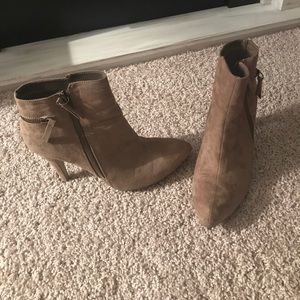 Mia suede heeled ankle booties