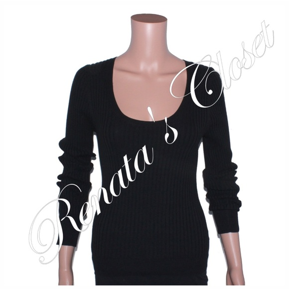 6c53625e3685e4 Victoria's Secret Tops   Scoop Neck Ribbed Long Sleeve Sweatshirt ...