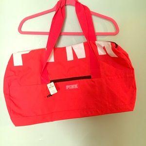 Victoria's Secret PINK duffle bag. Red.