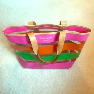 Kate Spade Clear Striped Tote