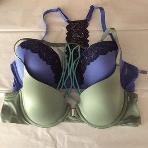 Bundle - 2 aerie bras 38 B - sunnie demi lace back