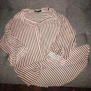 Tan and black striped shirt