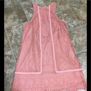 Free People Lace Crochet Overlay Dress Medium NWOT