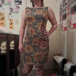 Sunflower and Cheetah Dress