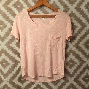Madewell Light Pink Slouchy Pocket T Shirt