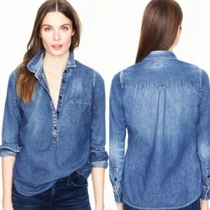 J.Crew Quarter Button Chambray