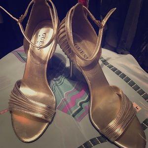 Guess Metallic Gold Heels