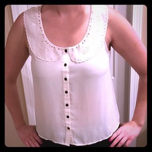 Forever 21 Tank Top Collared Blouse