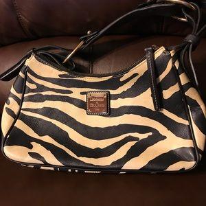 Dooney & Bourke zebra print hobo satchel bag