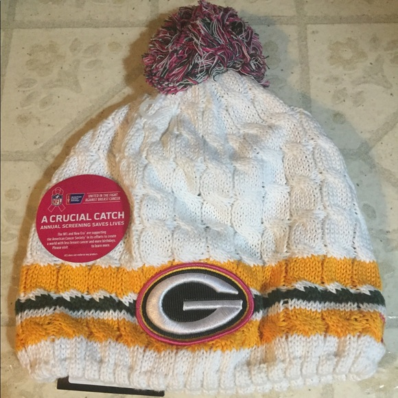 f99e6c227 Green Bay Packers Breast Cancer Awareness Knit Hat