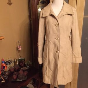 Kenneth Cole Reaction Nude Wool Blend Coat