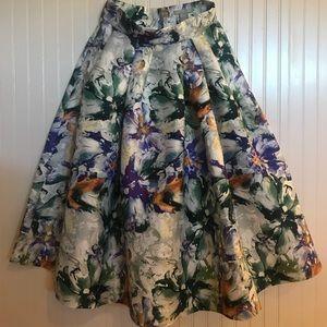 Print Midi Skirt size M