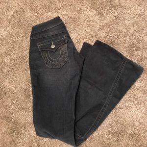 True Religion Cassidy lace up jeans Sz 24.