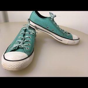 Woman's Size 10 Teal Converse All Stars