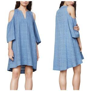 BCBGMaxazria Regan Chambray Cold Shoulder Dress