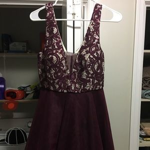 Burgundy Homecoming Dress