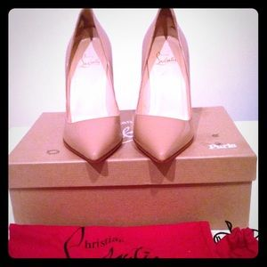 Christian Louboutin Pigalle you you 85 nude heels