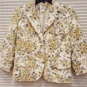 Ann Taylor Loft Floral Bolero Style Blazer