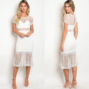 Dresses & Skirts - 🆕 Suzie White Lace Dress