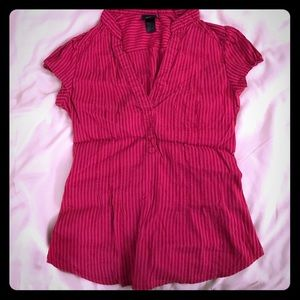 H&M striped tops.  V-neck, cap sleeves