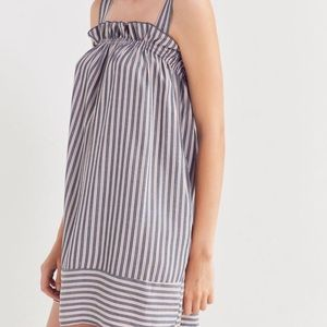 UO Striped Ruffled dress