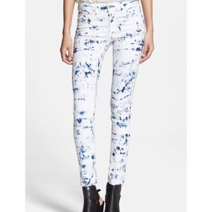 Rag & Bone White Flecked Skinny Jeans