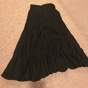 Flirty black flare skirt