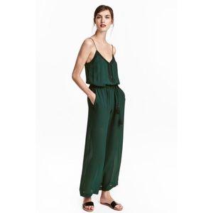 H&M wide leg jumpsuit - hunter green