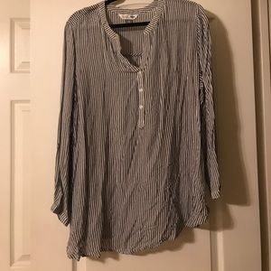 Old Navy blue and white stripe tunic shirt