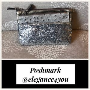 LOFT Adorable Glitter & Metallic Clutch!