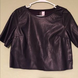 Leather Crop Top